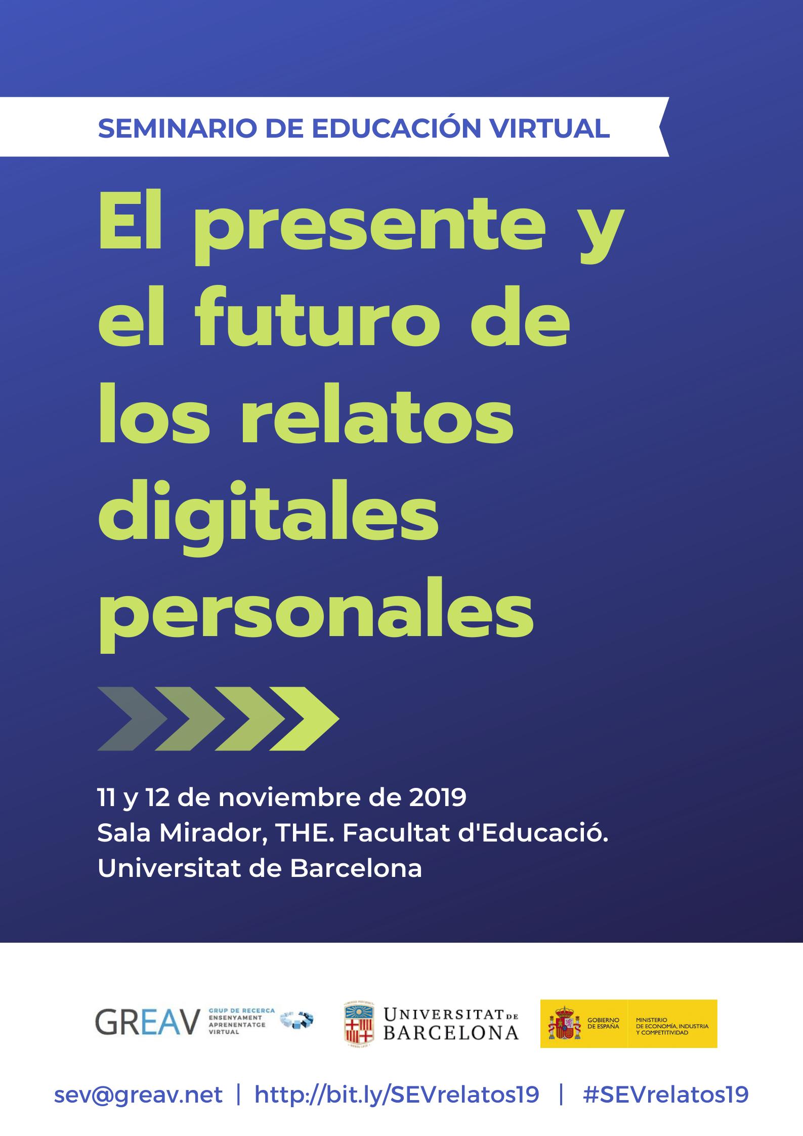 EL PRESENTE Y EL FUTURO DE LOS RELATOS DIGITALES PERSONALES